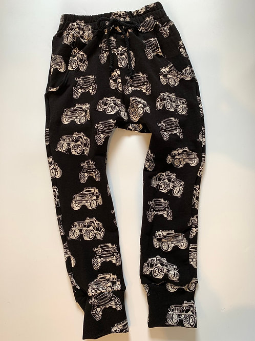 Black monster truck joggers