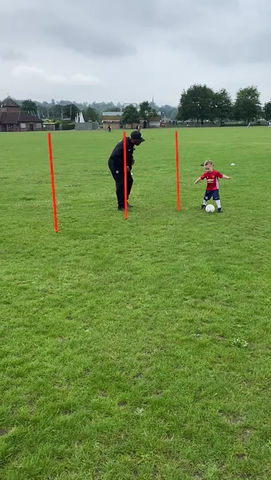Never too young to play football! 2.5 years old