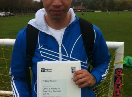 Beau with his FA Coaching Certificate! Well Done Mate!