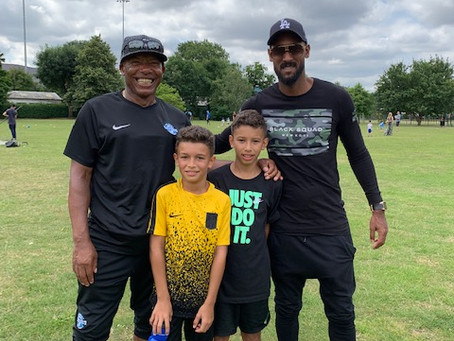 Phil with Nicolas Anelka