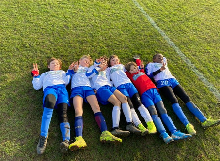 Tired Boys? The under 10's!
