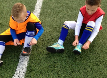 Make sure your laces are secure for the game!