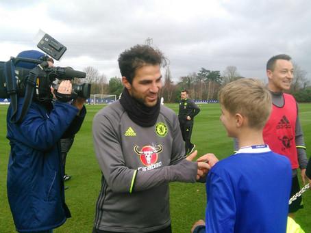 Look who has met Fabregas from Chelsea FC!
