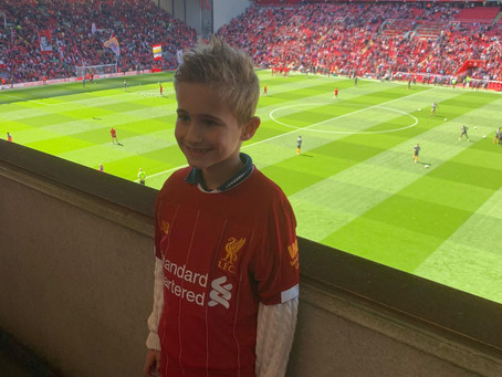 Look who was at the Liverpool Football Game!