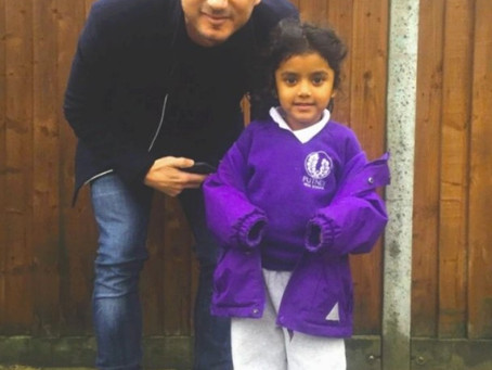 Lockdown Archives: Frank Lampard with our little player
