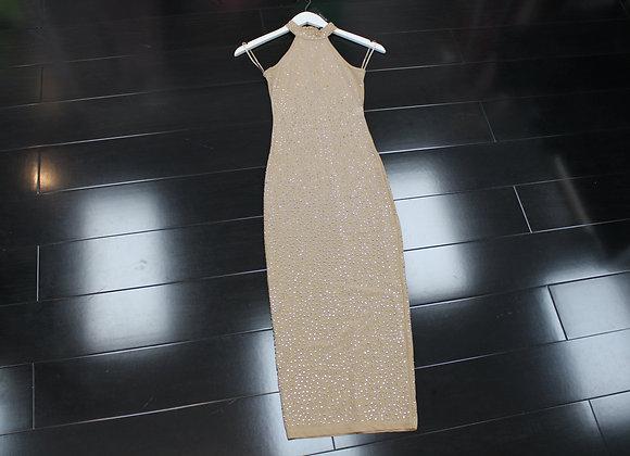 NUDE SPARKLE DRESS (SB126)