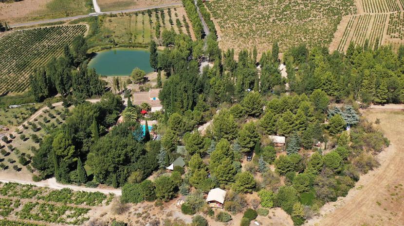 vue du Camping la Peiriere dans les corbières