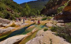 Baignade en rivière camping Tuchan