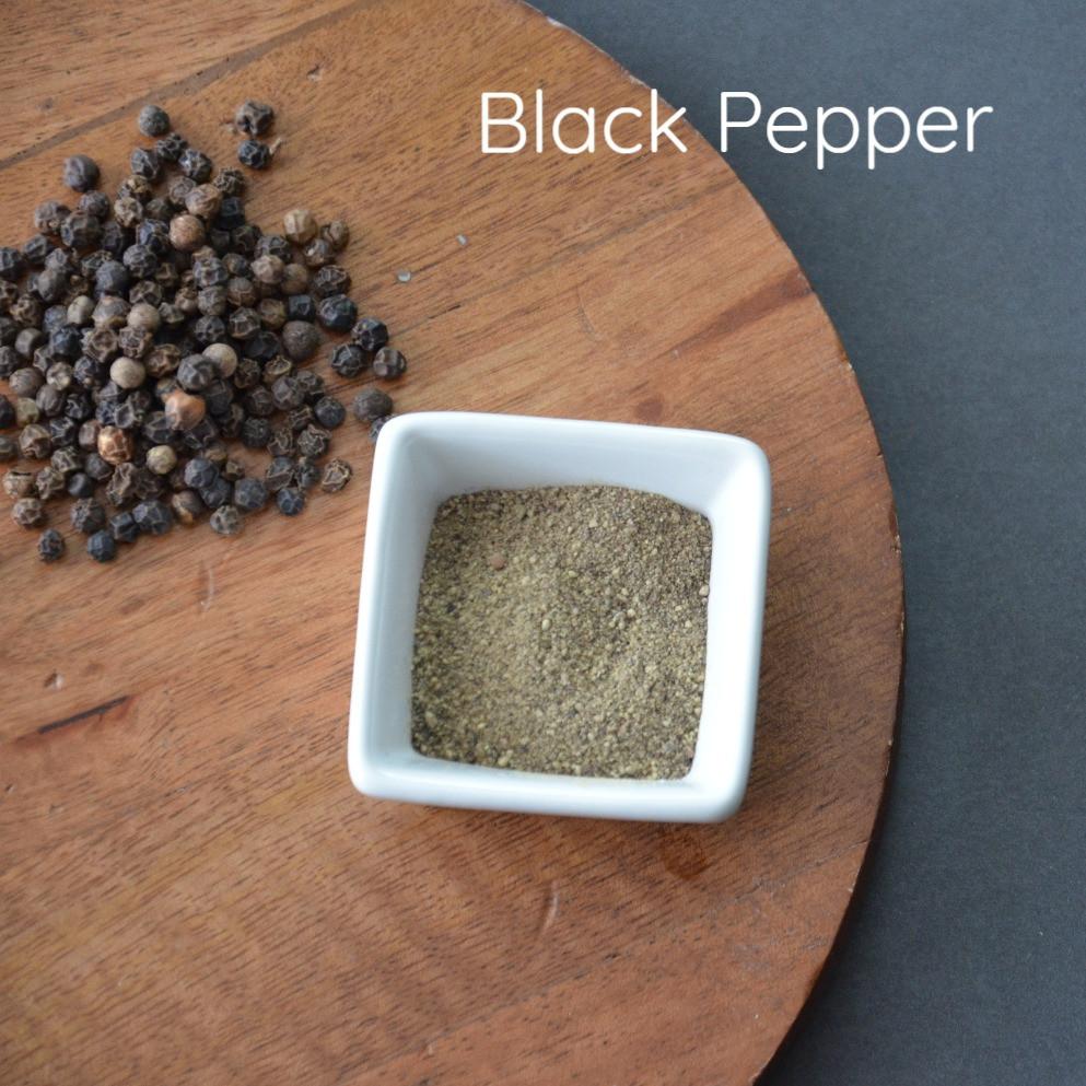 honey throat coat with black pepper