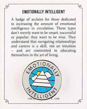 Emotionally Intelligent Pin Badge by The School of Life