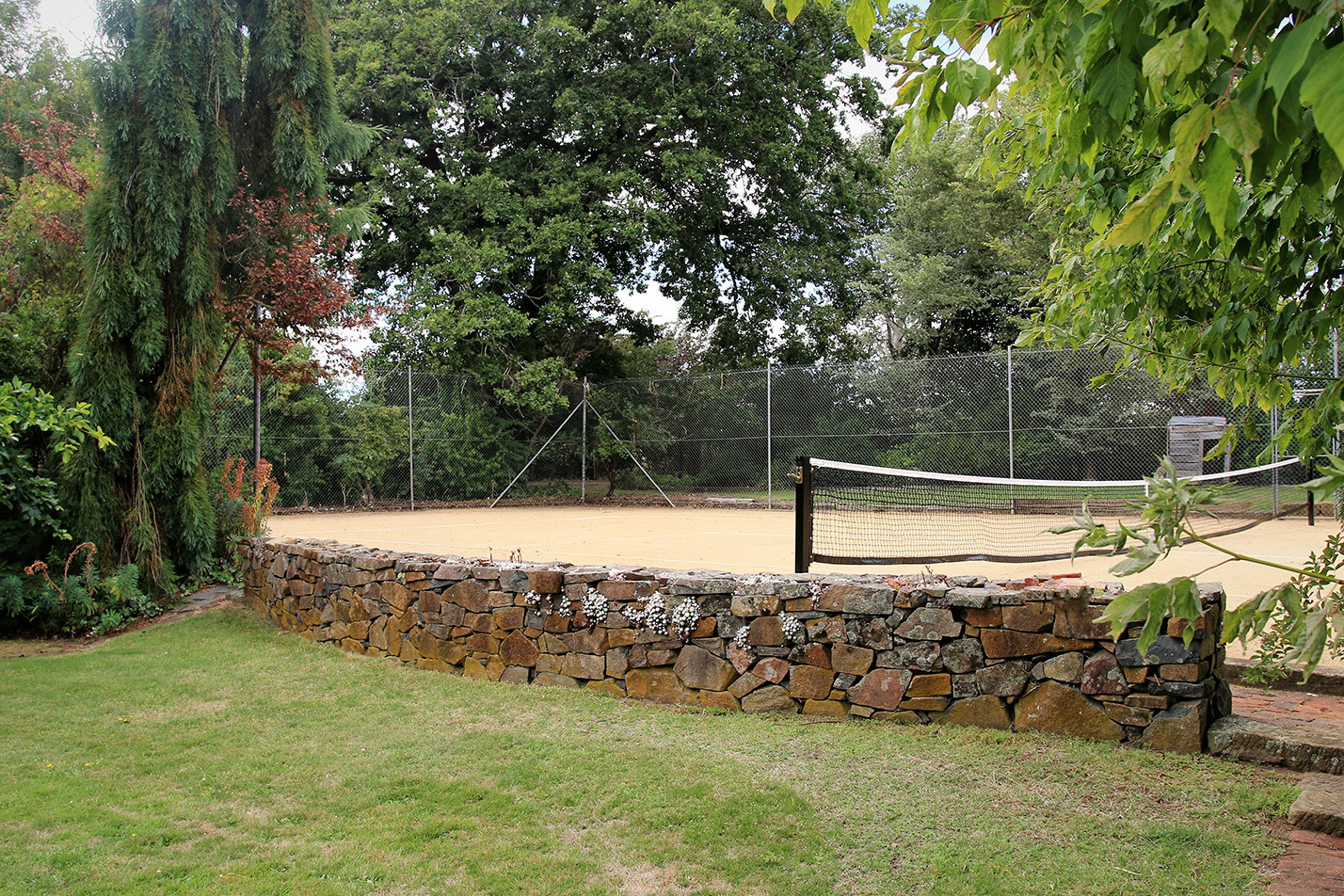 Large tennis court