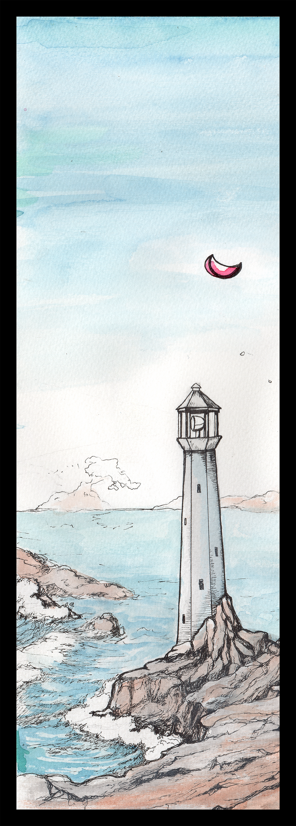 Side panel: lighthouse