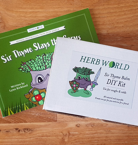 Sir Thyme Slays the Germs Book & DIY Kit Set