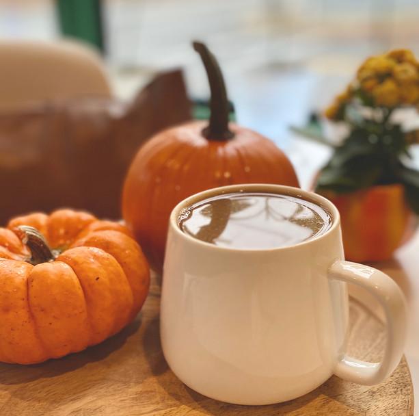 Vegan and organic Pumpkin Spice Latte