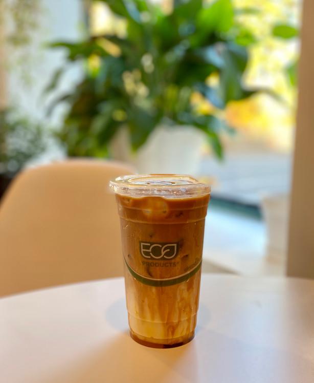 Vegan Iced Caramel Latte