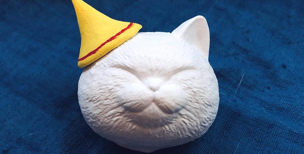 doo之亂嚟系列 Δ008貓饅頭 (黃色Party帽)