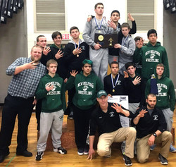 Green Wave wrestling 2016 state 'L' champions