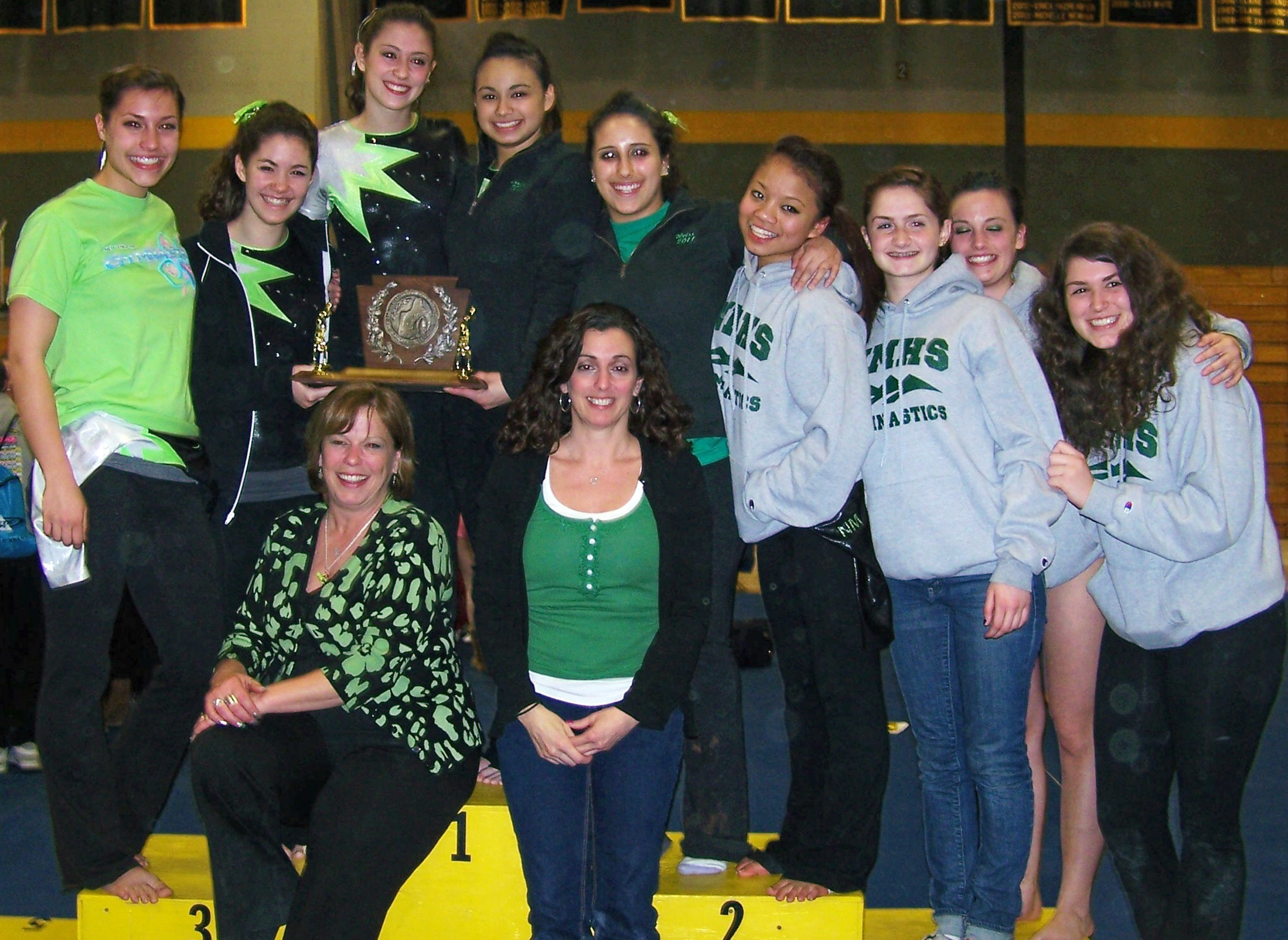 Green Wave gymnastics 2010 state open and New England champions