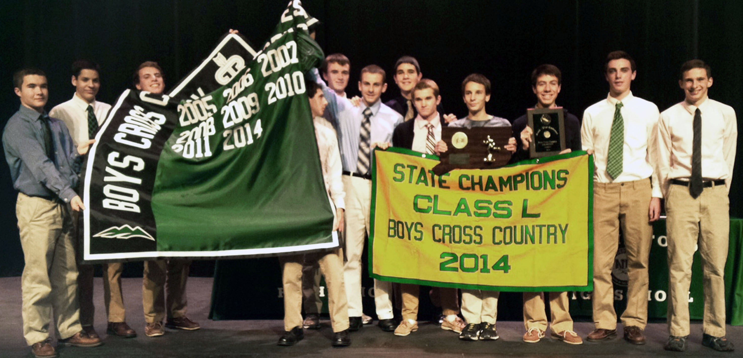 Green Wave boys' cross country 2014 state class 'L' champions 4