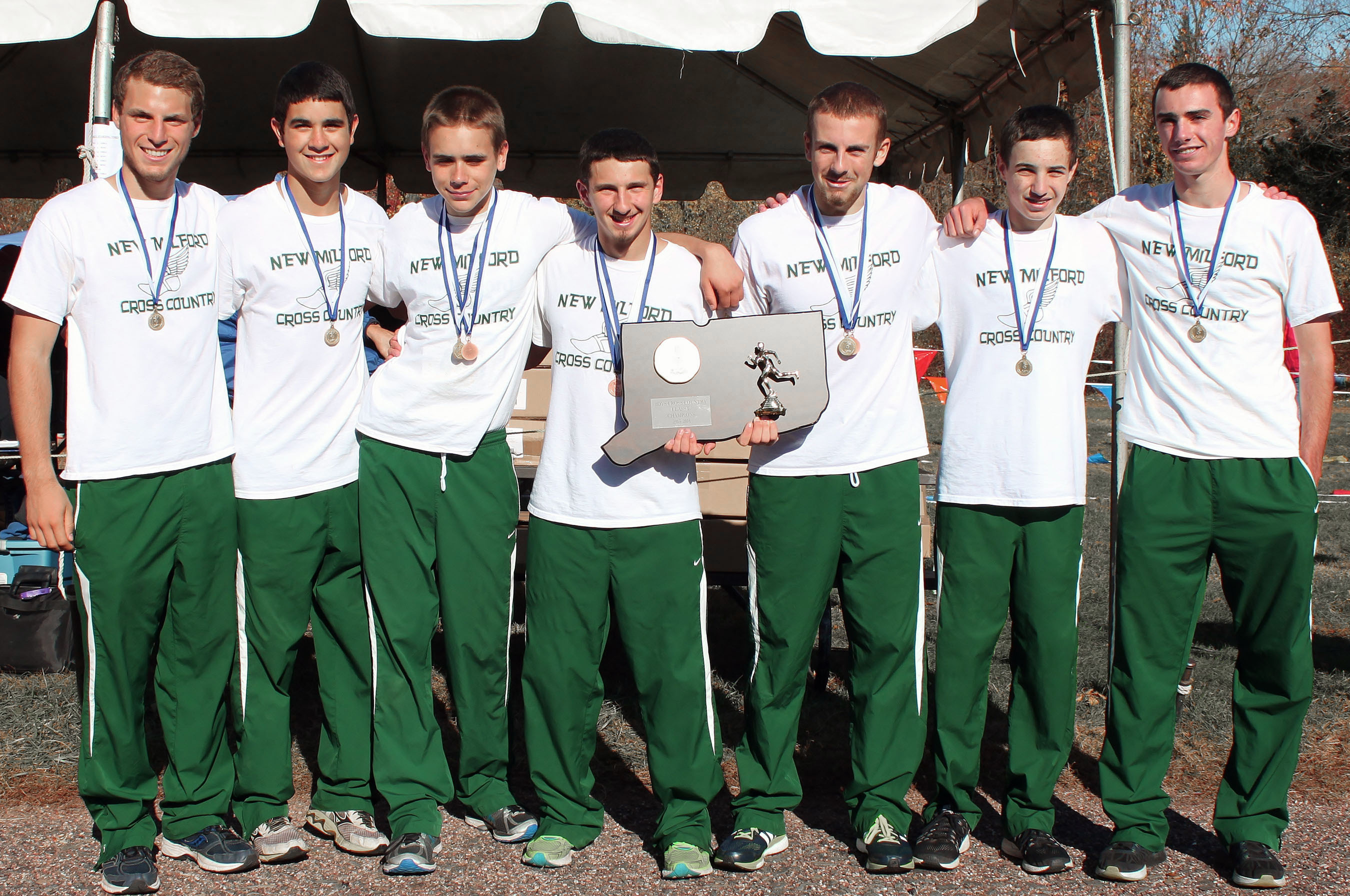 Green Wave boys' cross country 2015 state 'L' champions