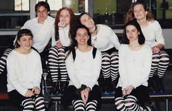 Green Wave gymnastics 1995 state 'M' champions 2