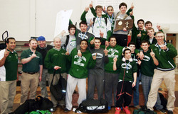 Green Wave wrestling 2013 state 'L' champions