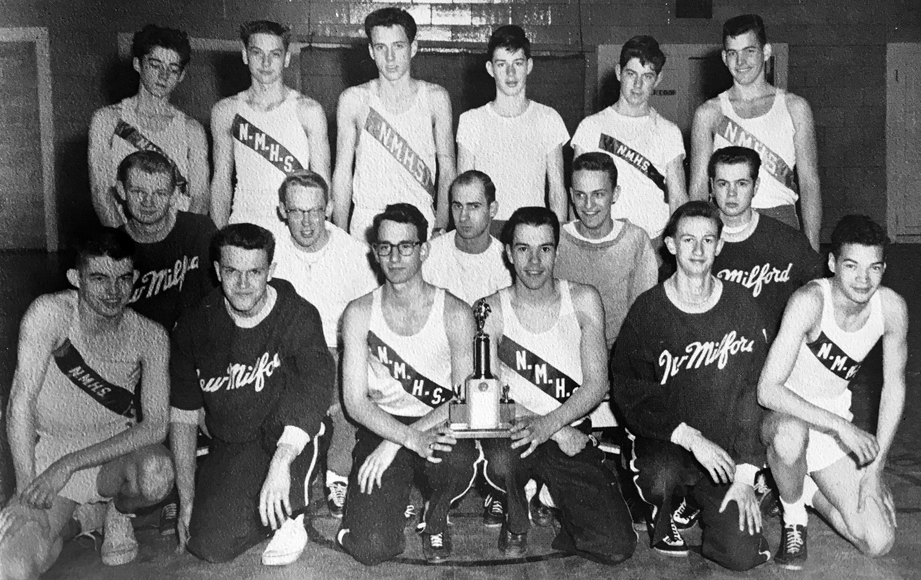 Green Wave boys' indoor track 1959 state class 'C' champions
