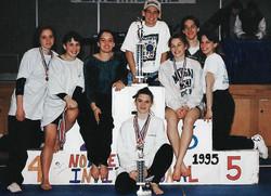 Green Wave gymnastics 1995 state 'M' champions