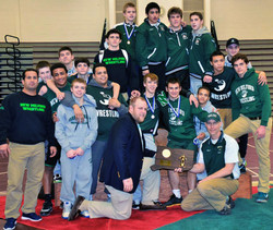 Green Wave wrestling 2015 state 'L' champions