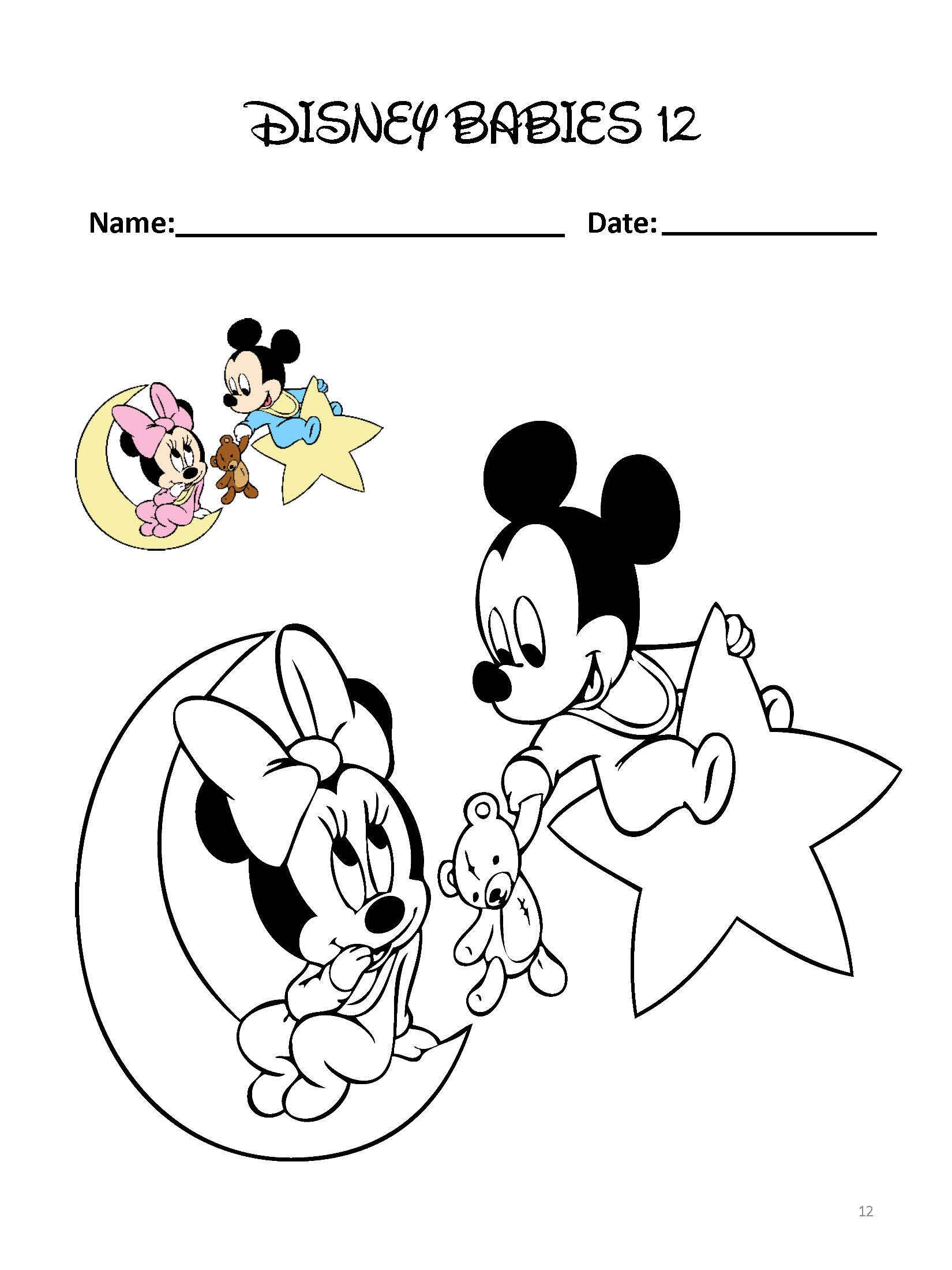 Disney Babies Coloring Pages Pre Kg Learning Box