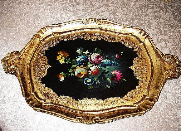 Florentiner Deko Tablett - Antik