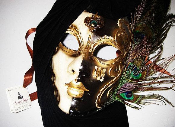 Venezianische Maske - Ying & Yang