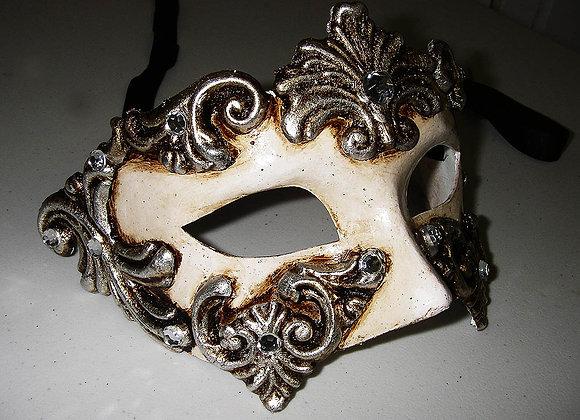 Venezianische Maske - Silver angel