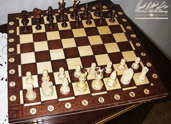Tisch-Schachspiel Mittelalter