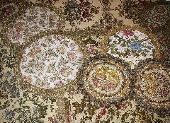 Antike Brokat Gobelin Deckchen - Tischdecken - Mittel