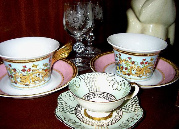 Porzellan Tasse und Untertasse