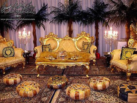 Barock, Orientalische, Orient, Indische, Asiatische, Bollywood, Lounge, Palast, Möbel, Tischdekorationen, Buffet, Deko, Dekorationen, Beduinenzelt, Zelt, Wüstenzelt, Nomadenzelt, Wasserpfeifen, Shisha, Teezeremonie, Gästebegrüßung, Wahrsagerin, Event