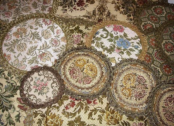 Antike Brokat Gobelin Deckchen - Tischdecken - Klein