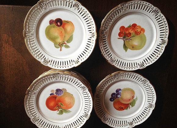 Porzellan Obstteller - Antik
