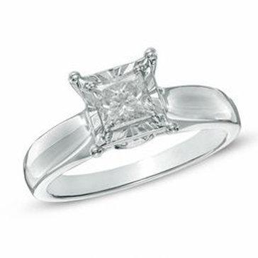 1 CT. Certified Princess-Cut Diamond
