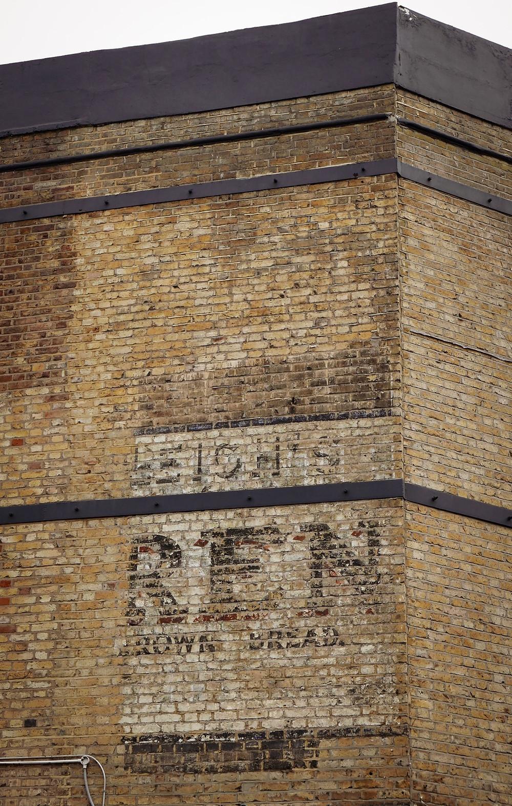 Ghostsign, advertising, history, Stoke Newington