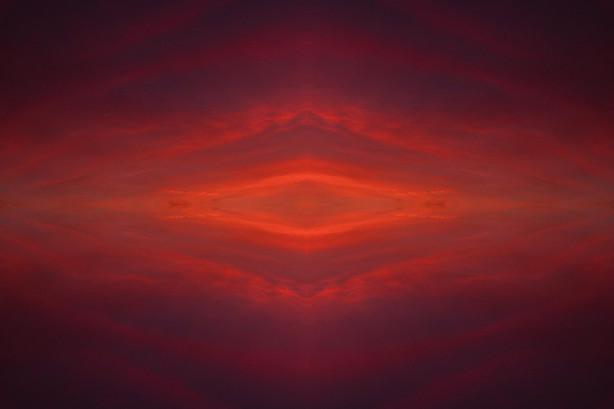Sunset reflection pattern