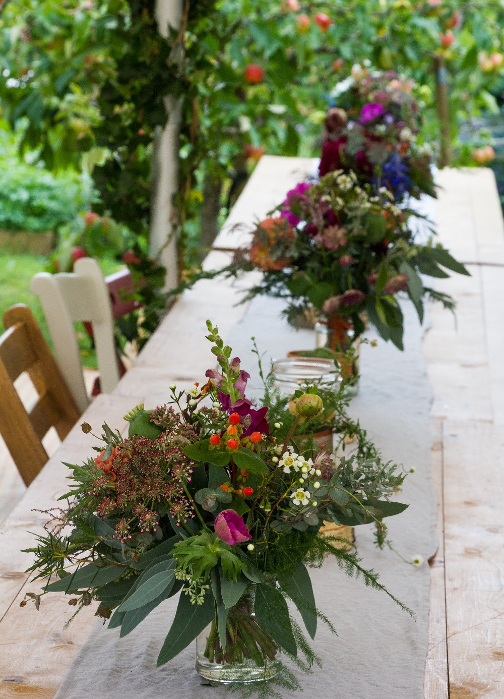 Table decorations, flowers, wedding