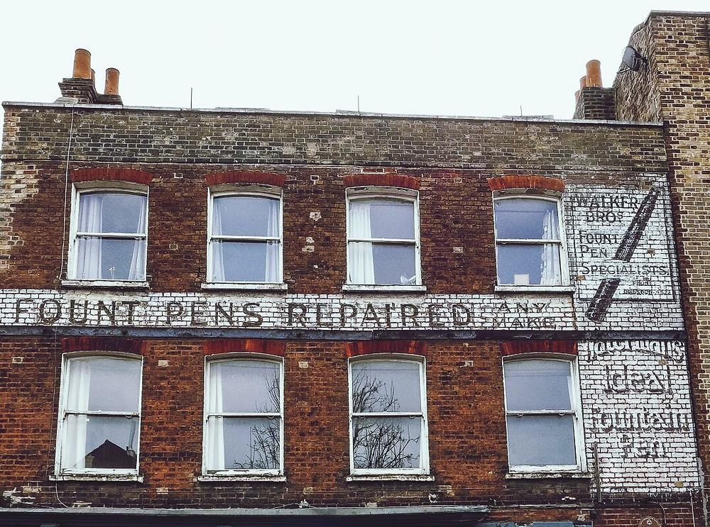 Ghostsign, advertising, history,Stoke Newington