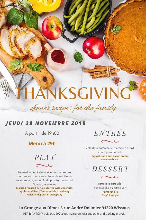Thanksgiving dinner Grangeauxdimes 2019.