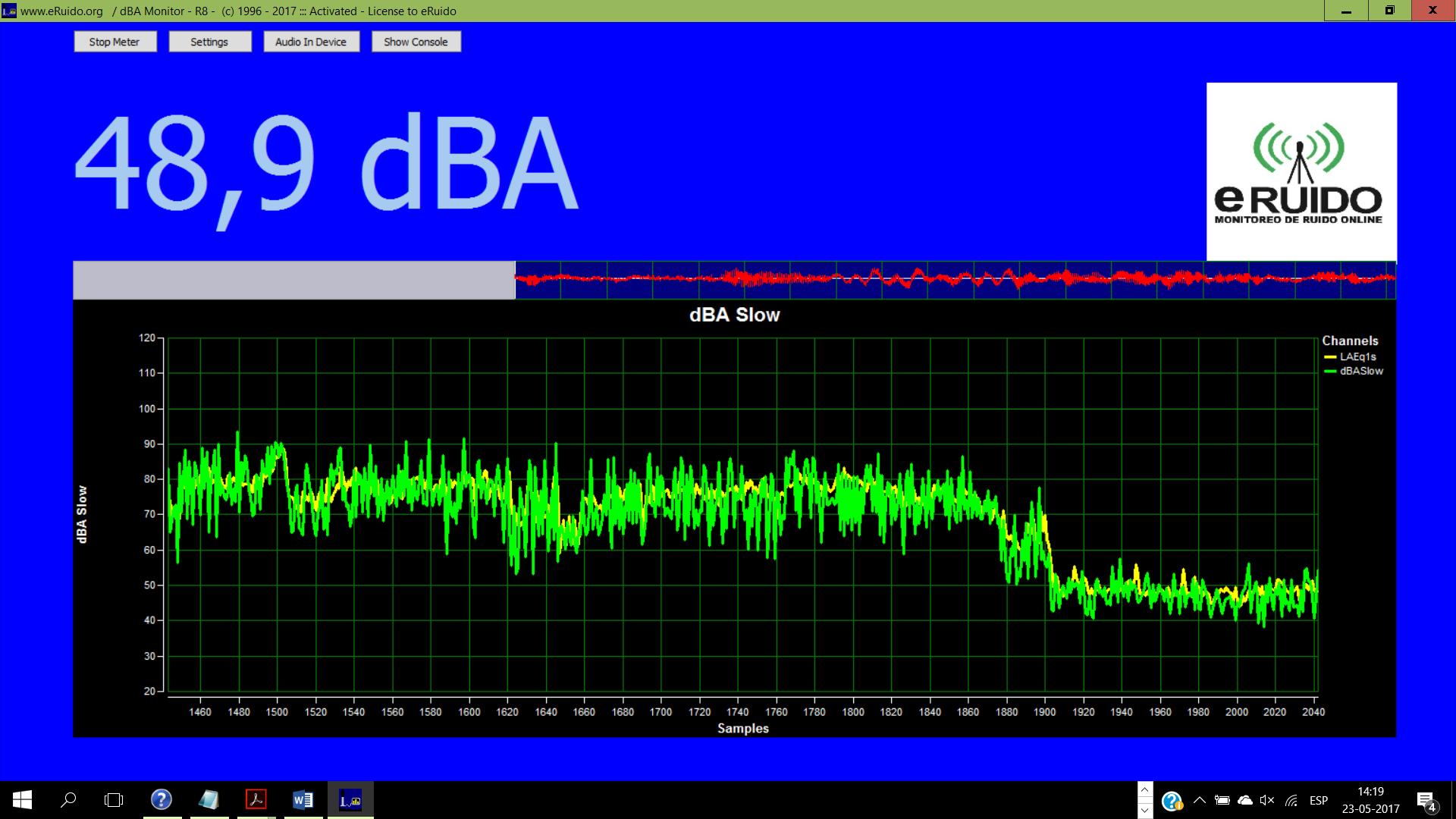 dBAMonitor R9 Sound Level Meter Software