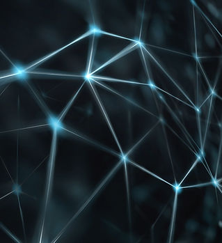 Blockchain network - Abstract connected