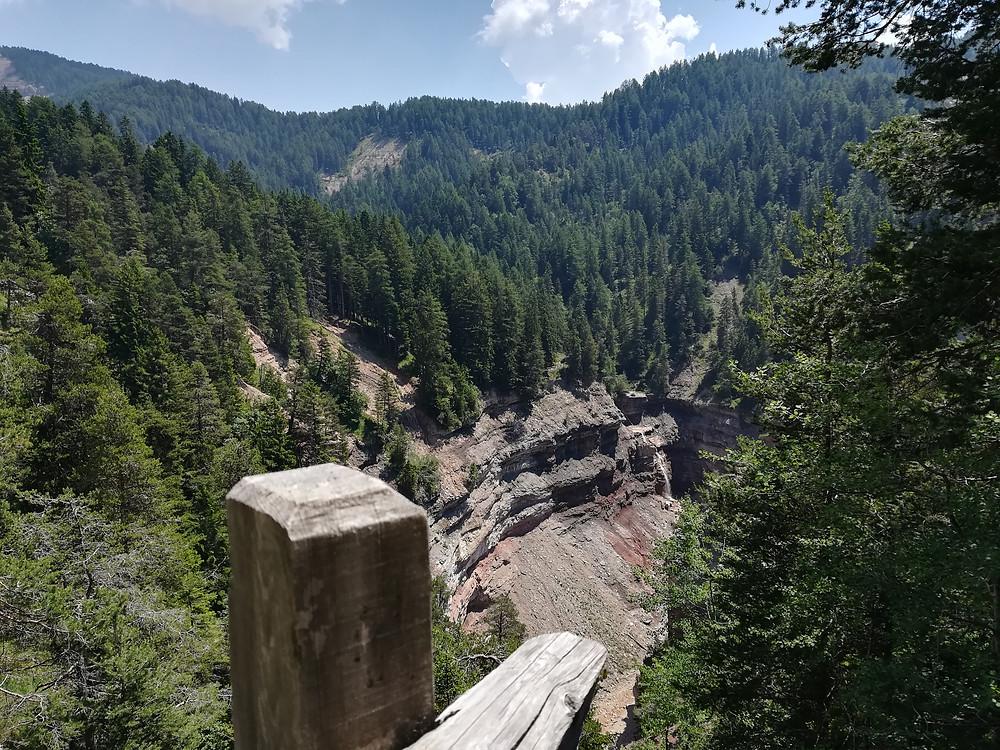 GEOparc Bletterbach, cascata del Butterloch