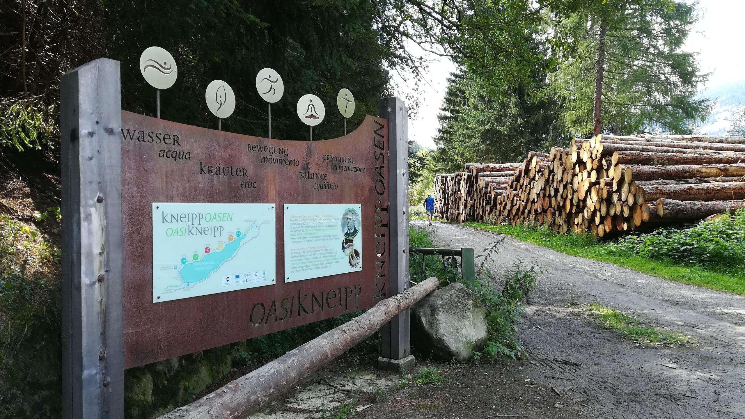 Lago di Zoccolo - percorso Kneipp in val d'Ultimo