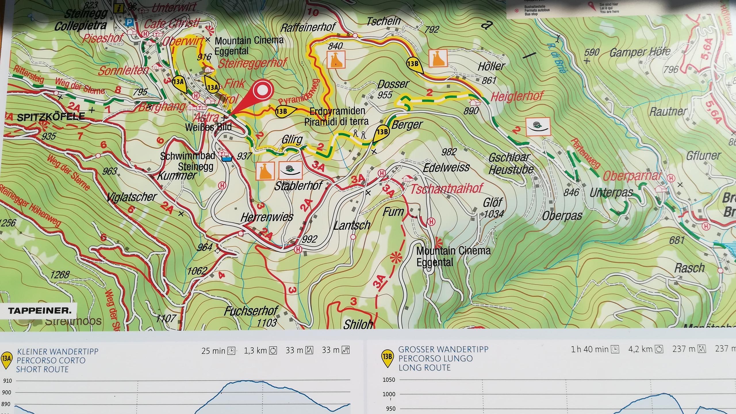 Sentiero Piramidi di Terra di Collepietra - Val d'Ega